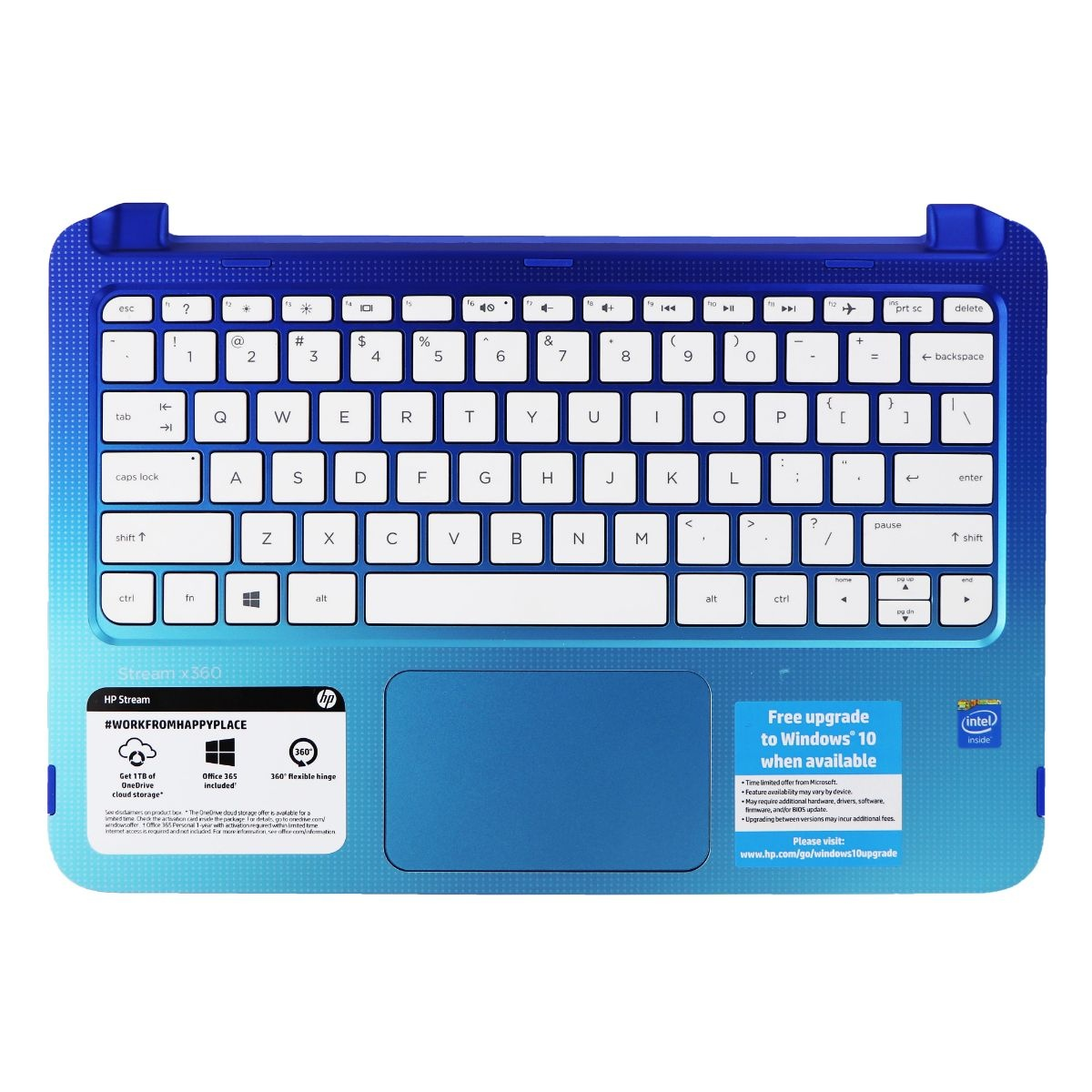 Touchpad and Keyboard PK131A61C00 for HP Stream 11-p010nr Laptop - Blue