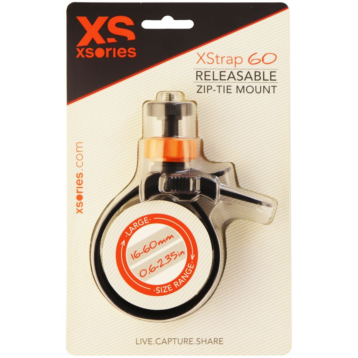 XSories XStrap, Releasable Zip-Tie Compact Camera Mount Fits All GoPro