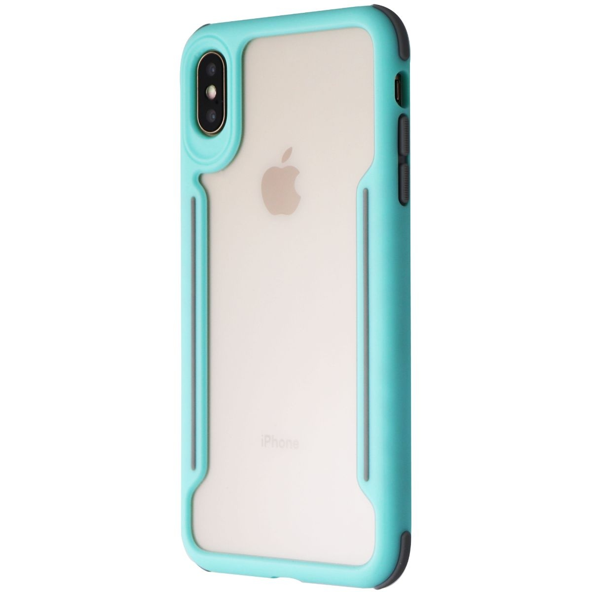 Verizon Slim Guard Clear Grip Case for iPhone XS Max (6.5 In)- Clear/Light Teal