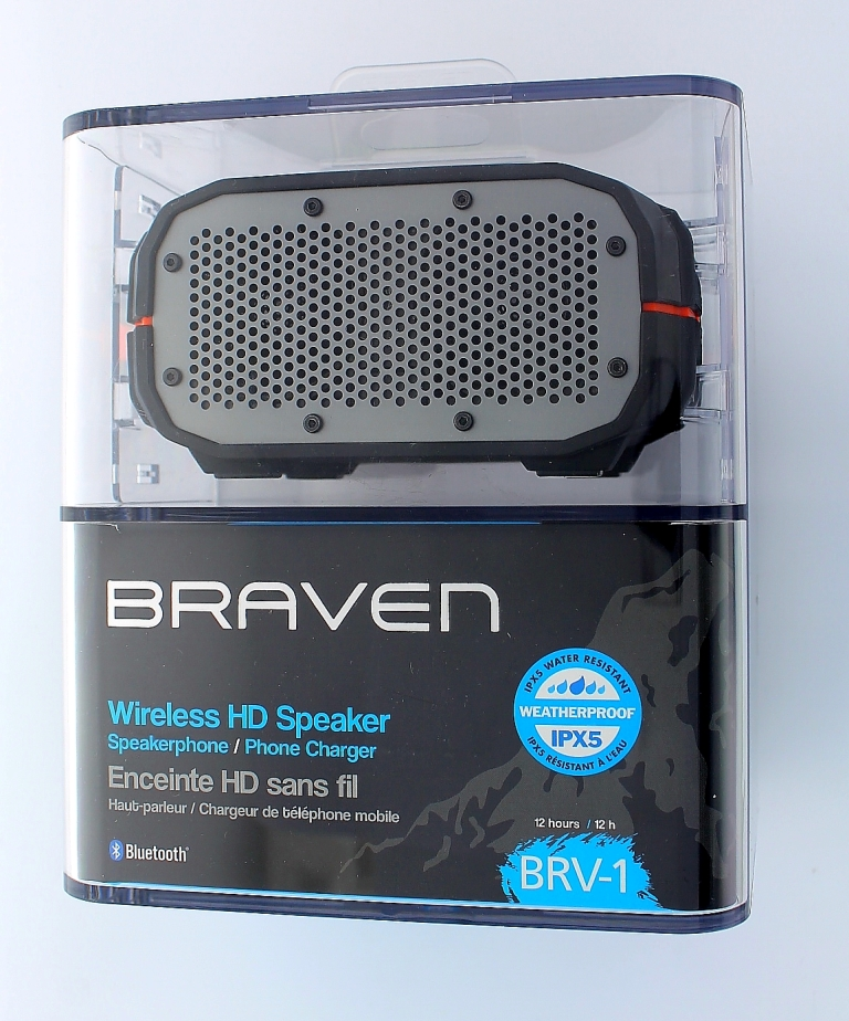 Original OEM Braven Wireless HD Speakerphone / Phone Charger - Black / Orange