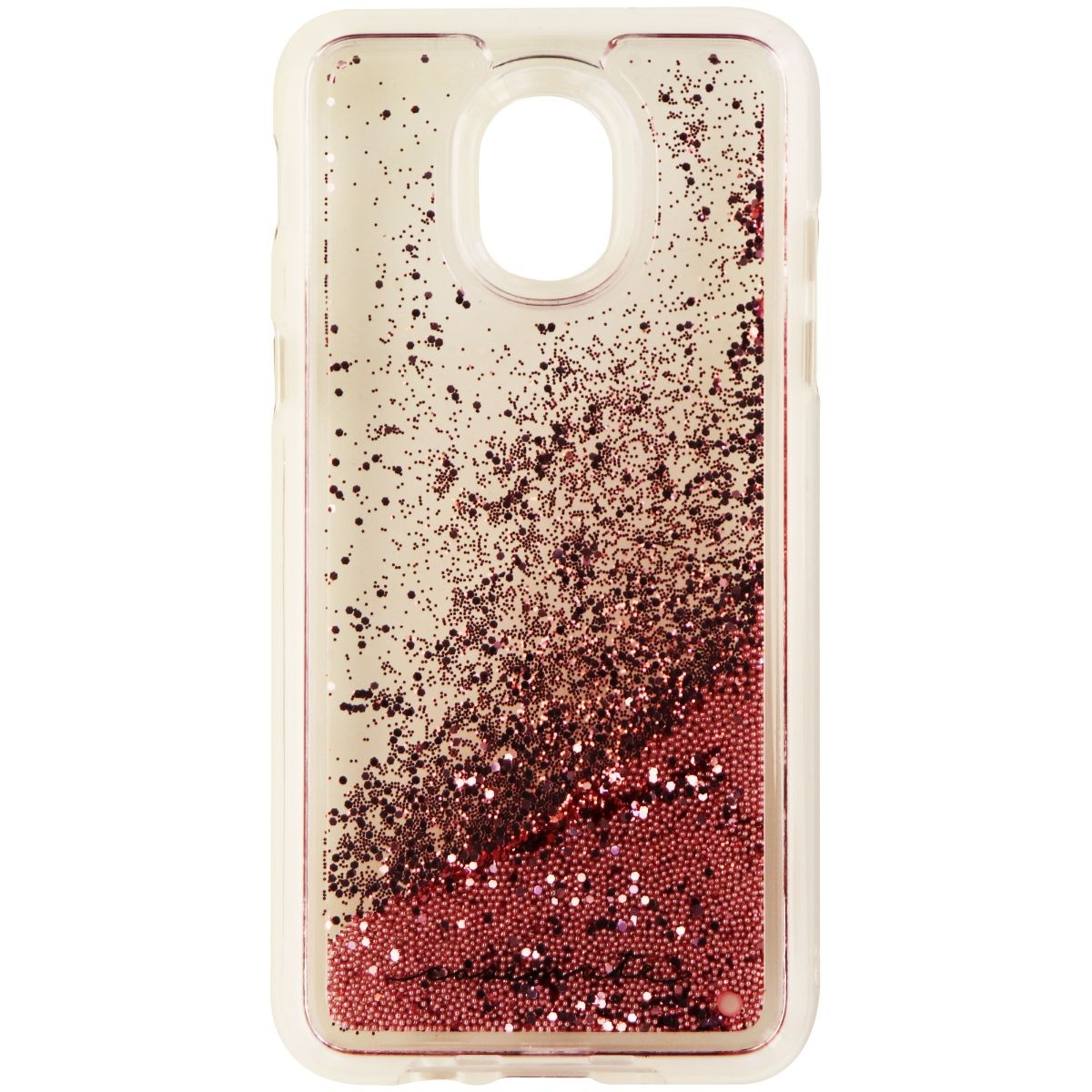 Case-Mate Waterfall Liquid Glitter Case for Galaxy J3 and J3 V (3rd Gen) - Pink