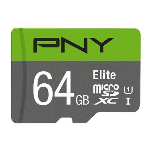 PNY 64GB Micro SDXC Class 10 UHS-I / U 3 Card - 65MB/s