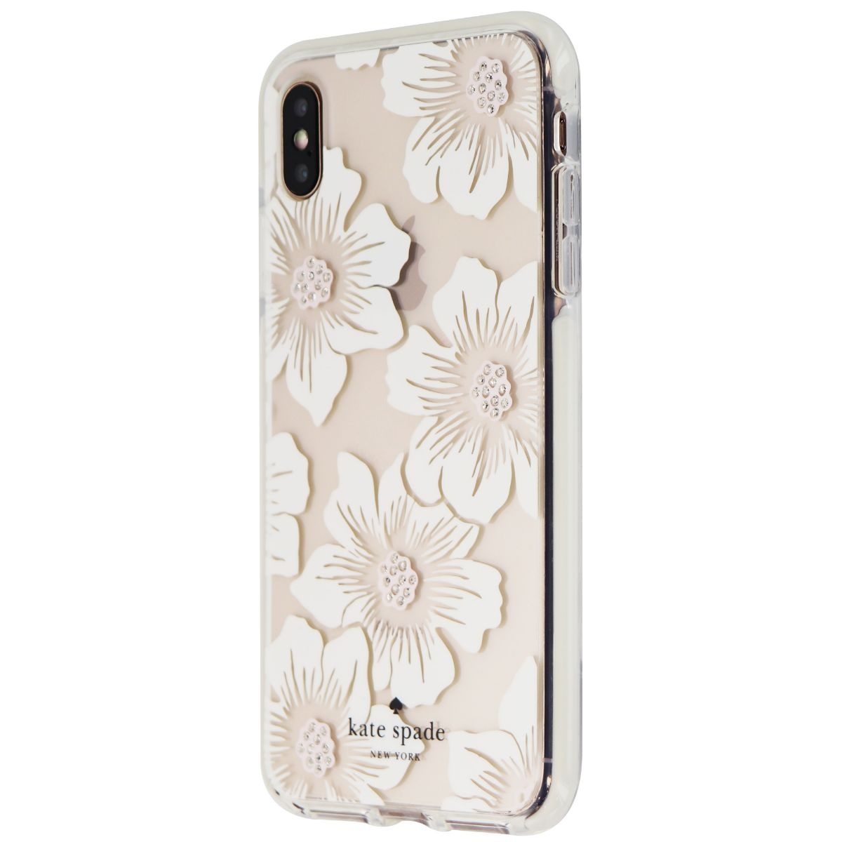 Kate Spade Defensive Hardshell Case for iPhone XS Max - Hollyhock/Cream/Gems