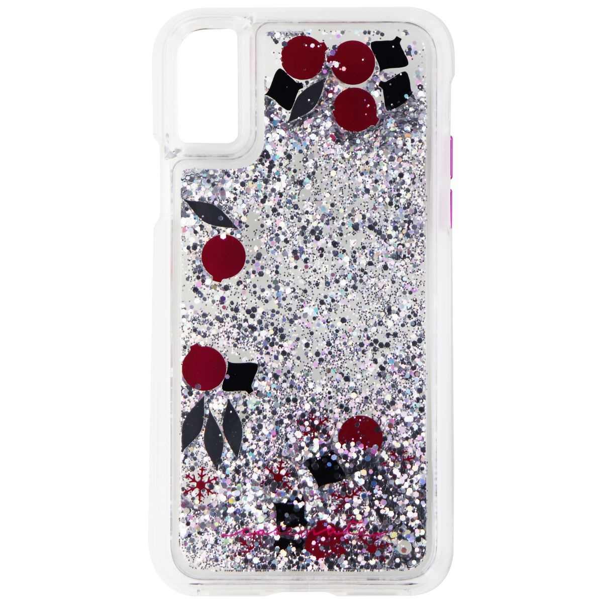 Case-Mate Waterfall Glitter Case for iPhone X 10 - Pink / Black / Silver Glitter