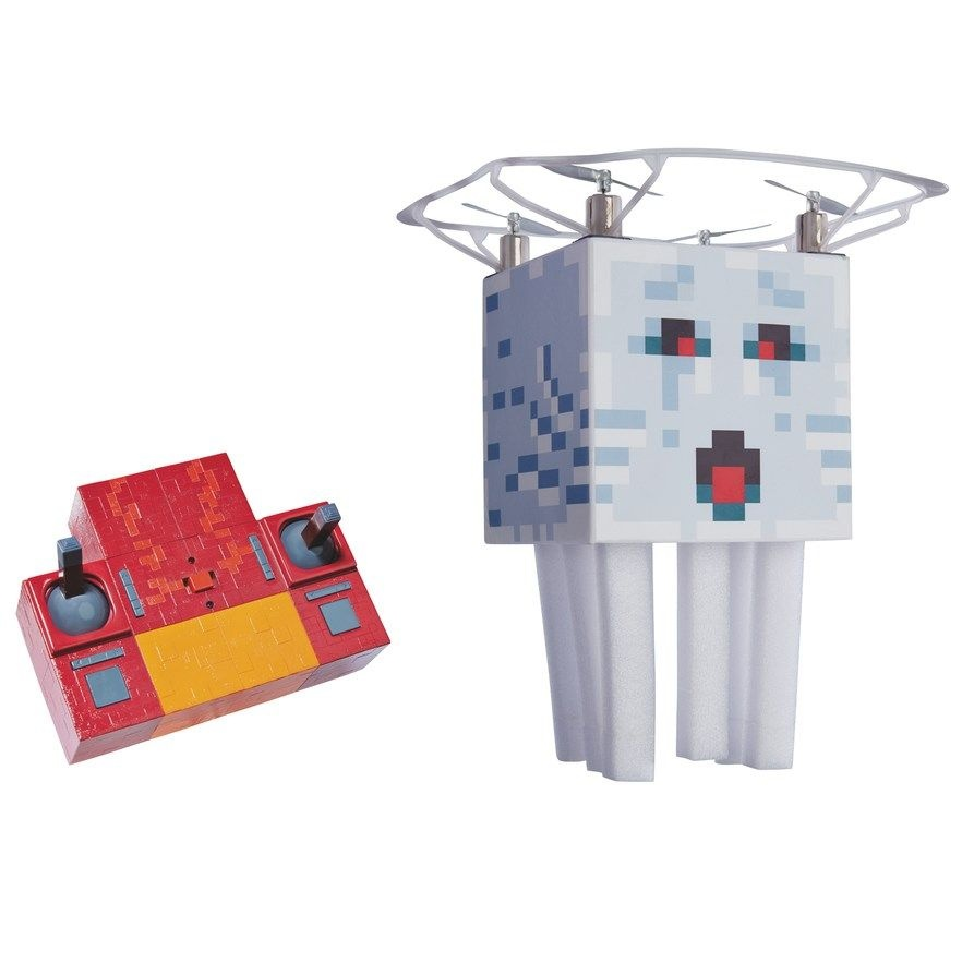 Mattel Minecraft RC Flying Ghast Remote Control Quad-Copter Toy