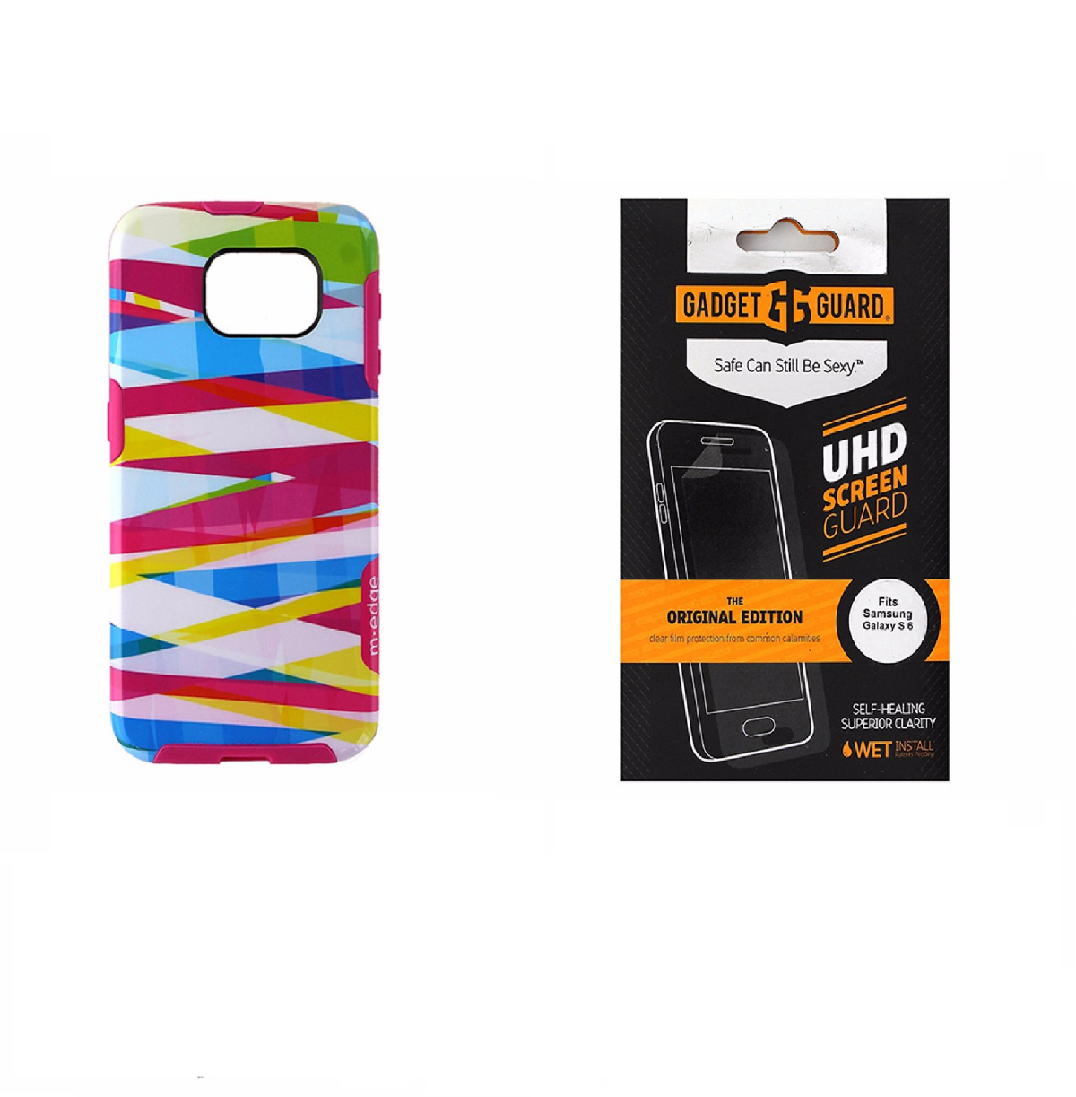 M-Edge Multicolor Case + Gadget Guard Screen Protector for Samsung Galaxy S6