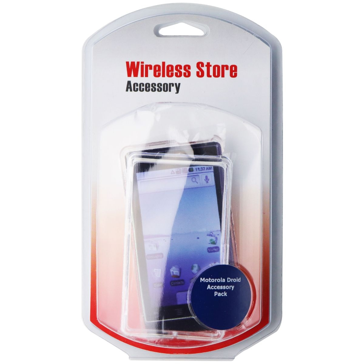 Generic 2 Piece Slim Hardshell Case for Motorola Droid 2 - Clear
