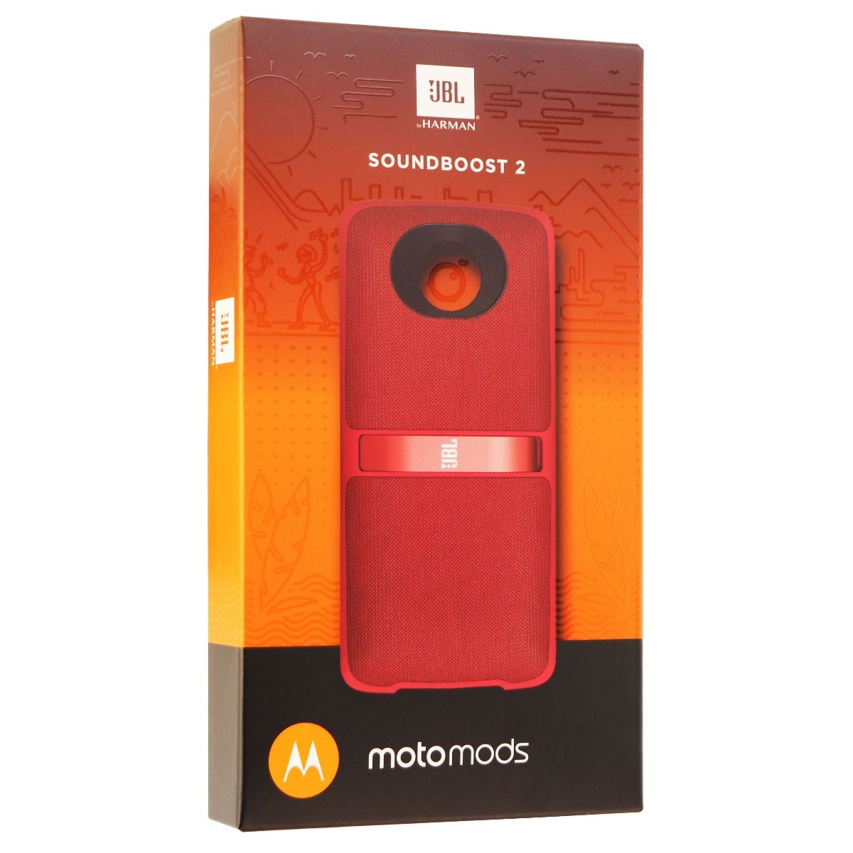 JBL MotoMod Soundboost 2 Audio Speaker Mod for Motorola Moto Z Phones - Red