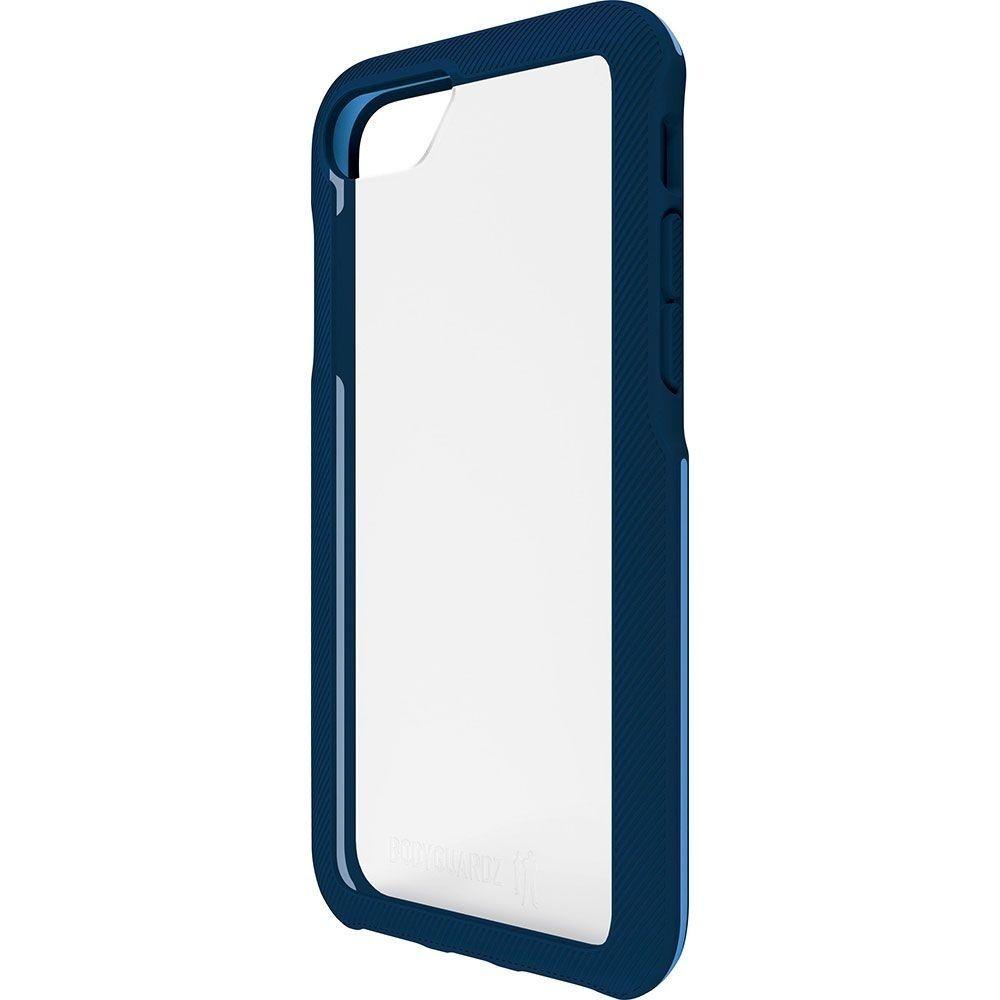 BodyGuardz Trainr Series Hybrid Case for iPhone 8 7 6s - Frost/Navy Blue