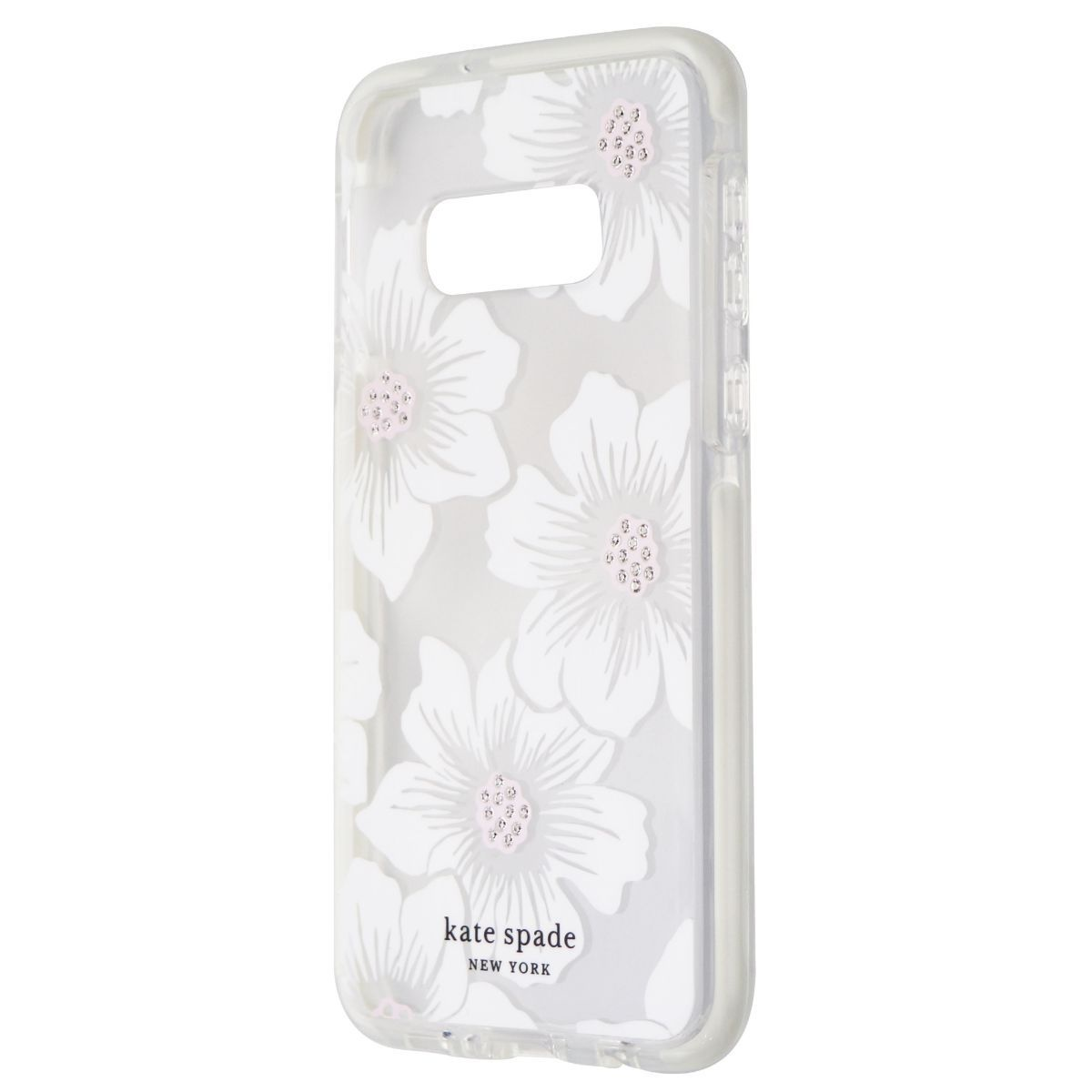 Kate Spade Defensive Hardshell Case for Galaxy S10e-Hollyhock Floral/Clear Cream