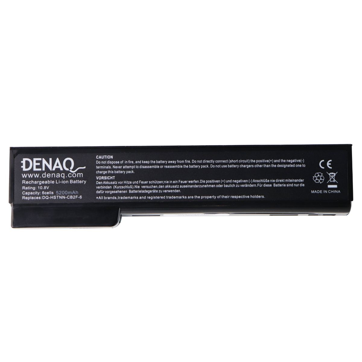 Denaq 6-Cell Li-Ion 5200 mAh Battery for Select HP Laptops (DQ-HSTNN-CB2F-6)