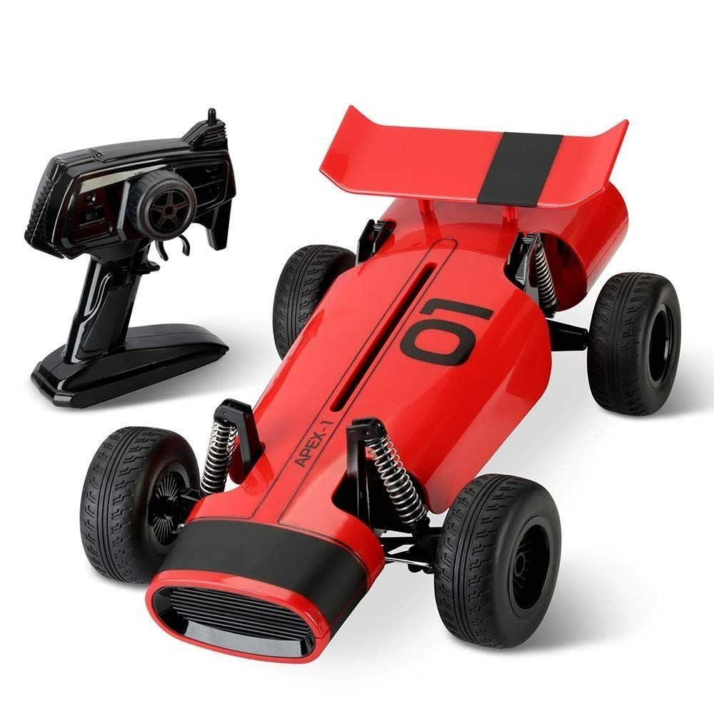 FAO Schwarz Classic RC Racer Toy w/ Multi-Directional Remote Control -Red/Black