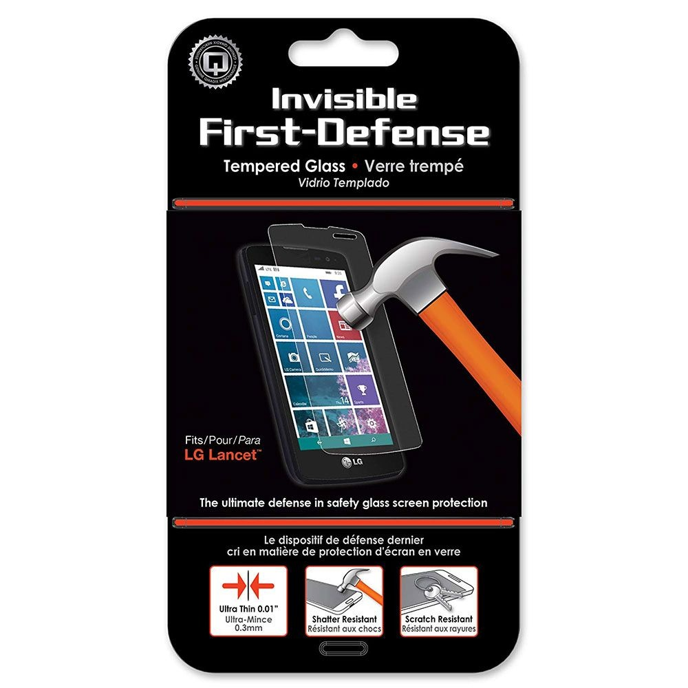 Qmadix Invisible Tempered Glass Screen Protector for LG Lancet VW820 - Clear