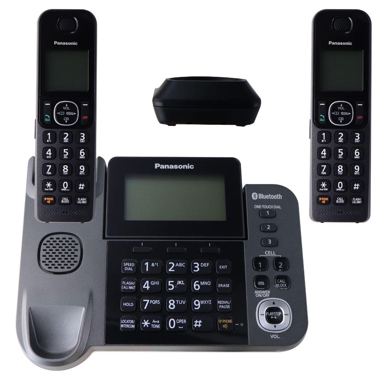 Panasonic KX-TGF382M DECT 2-Handset Landline Telephone - Black