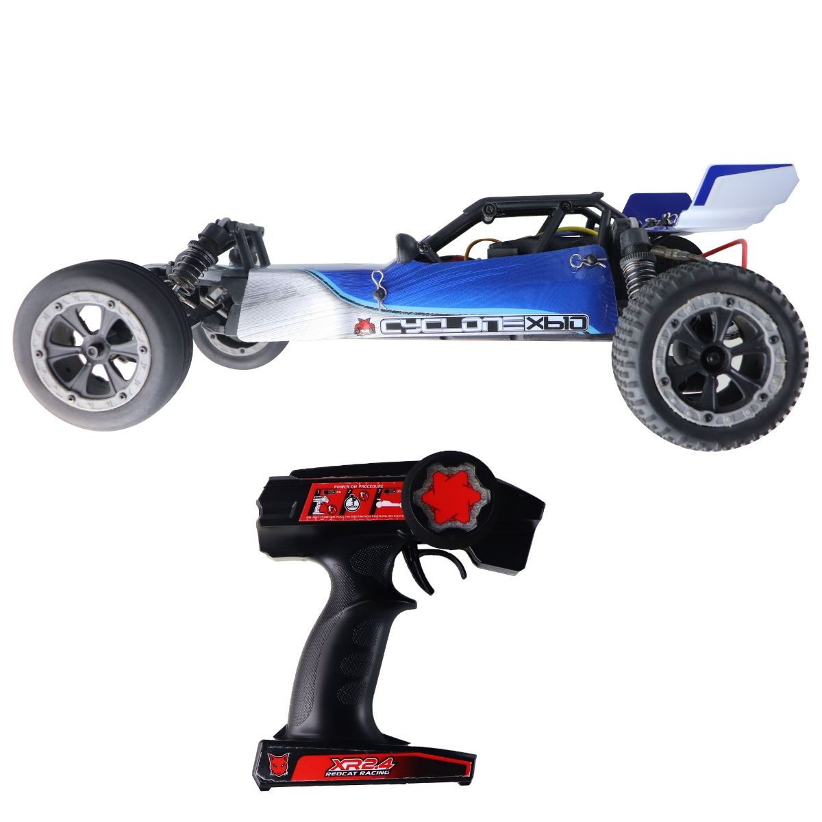Redcat Racing Radio Control Dune Buggy Cyclone Xb10 - Blue / Black / Gray