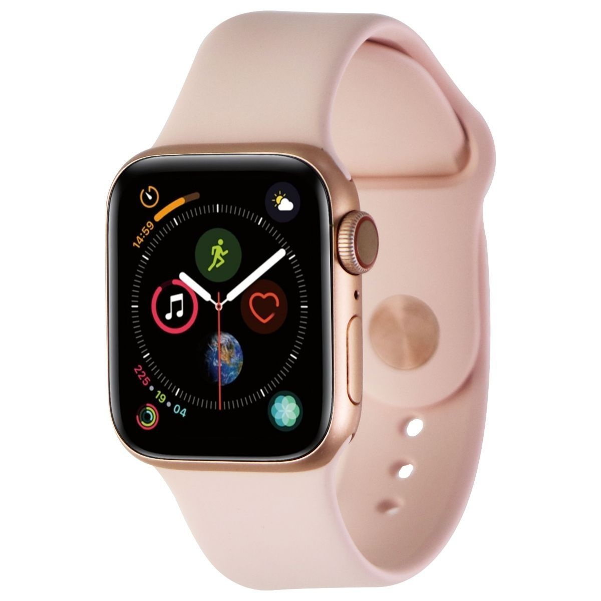 Apple Watch Series 4 A1975 40mm Aluminum Case Pink Sport Band Smart Watch For Sale Online Ebay