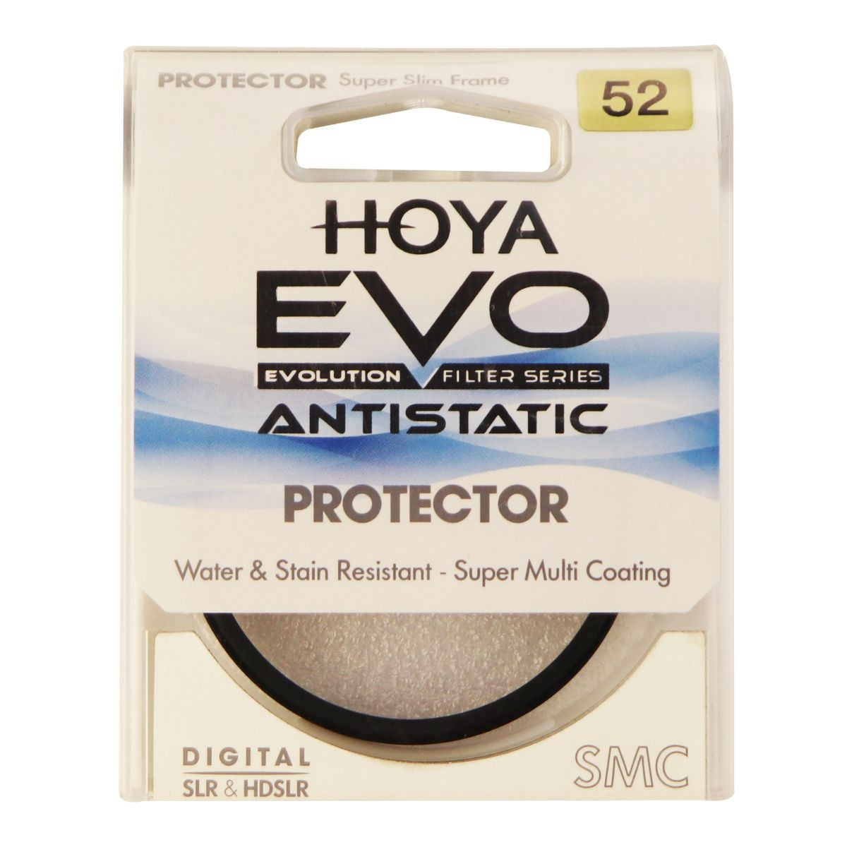 Hoya Evo Antistatic Protector Filter - 52mm - Low-Profile Filter Frame