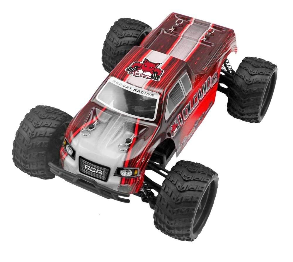 Redcat Racing Volcano-18 V2 Electric Monster Truck w/ Waterproof Electronics Red