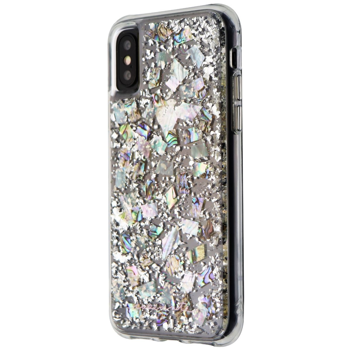 Case-Mate Karat Pearl Series Case for Apple iPhone XS/X - Clear/Pearl Flakes