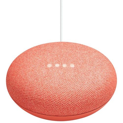 Google Home Mini Personal Assistant Smart Speaker - Coral (GA00217-US)