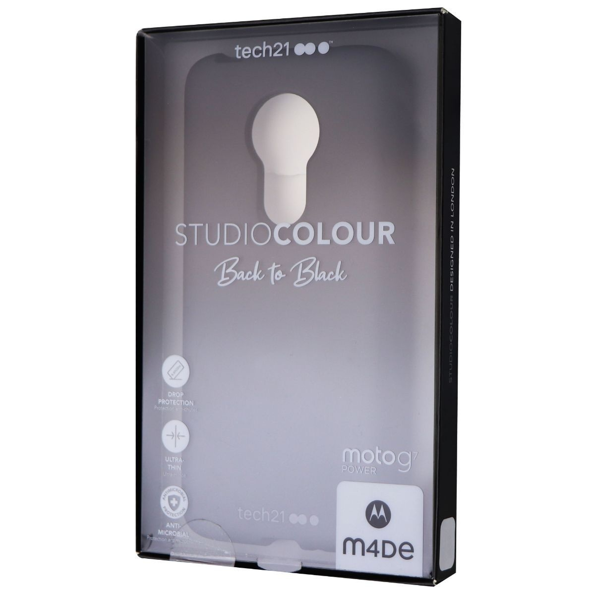 Tech21 Studio Colour Series Gel Case for Motorola Moto G7 Power - Black