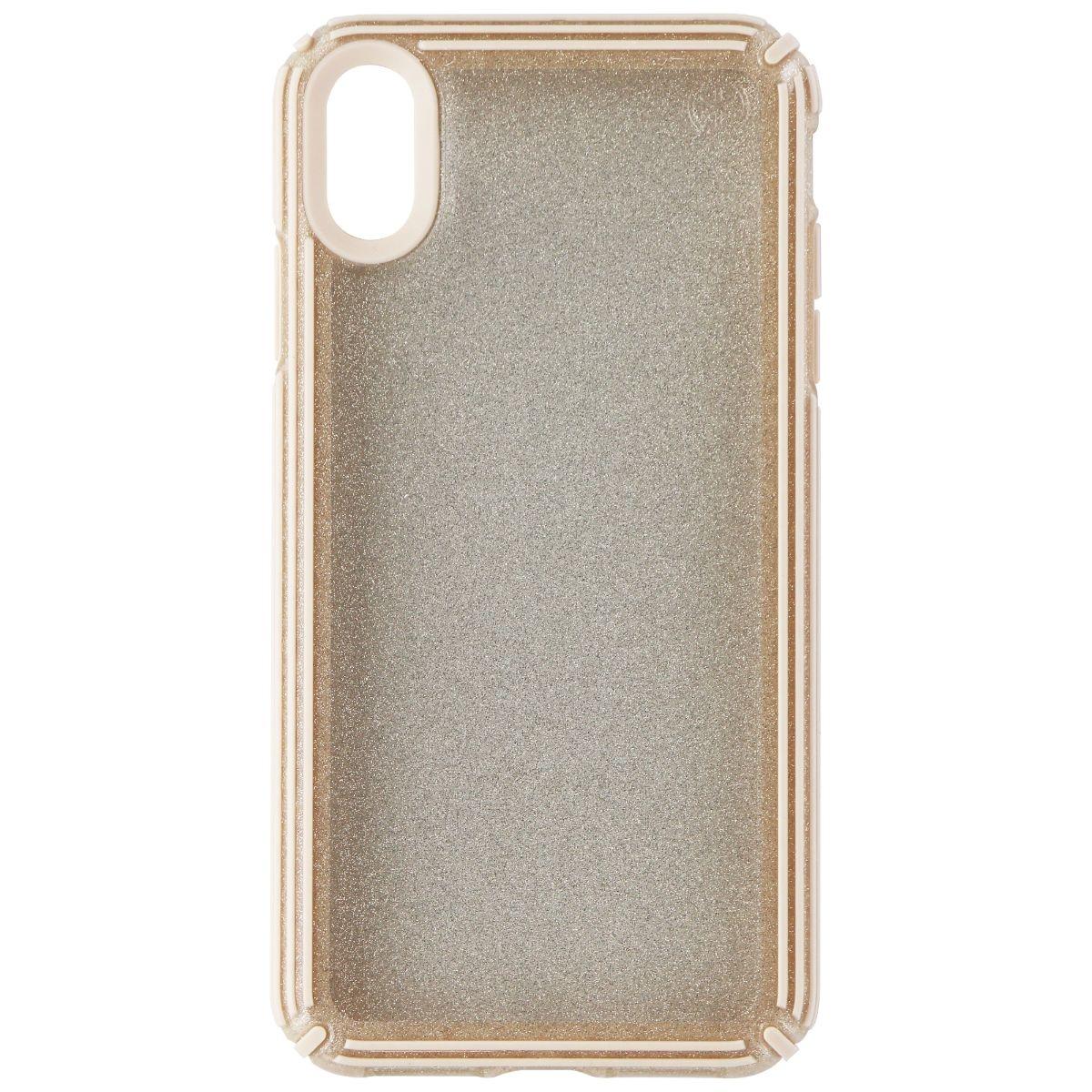 Speck Presidio V-GRIP Case for Apple iPhone XS Max - Gold Glitter/Calfskin Brown