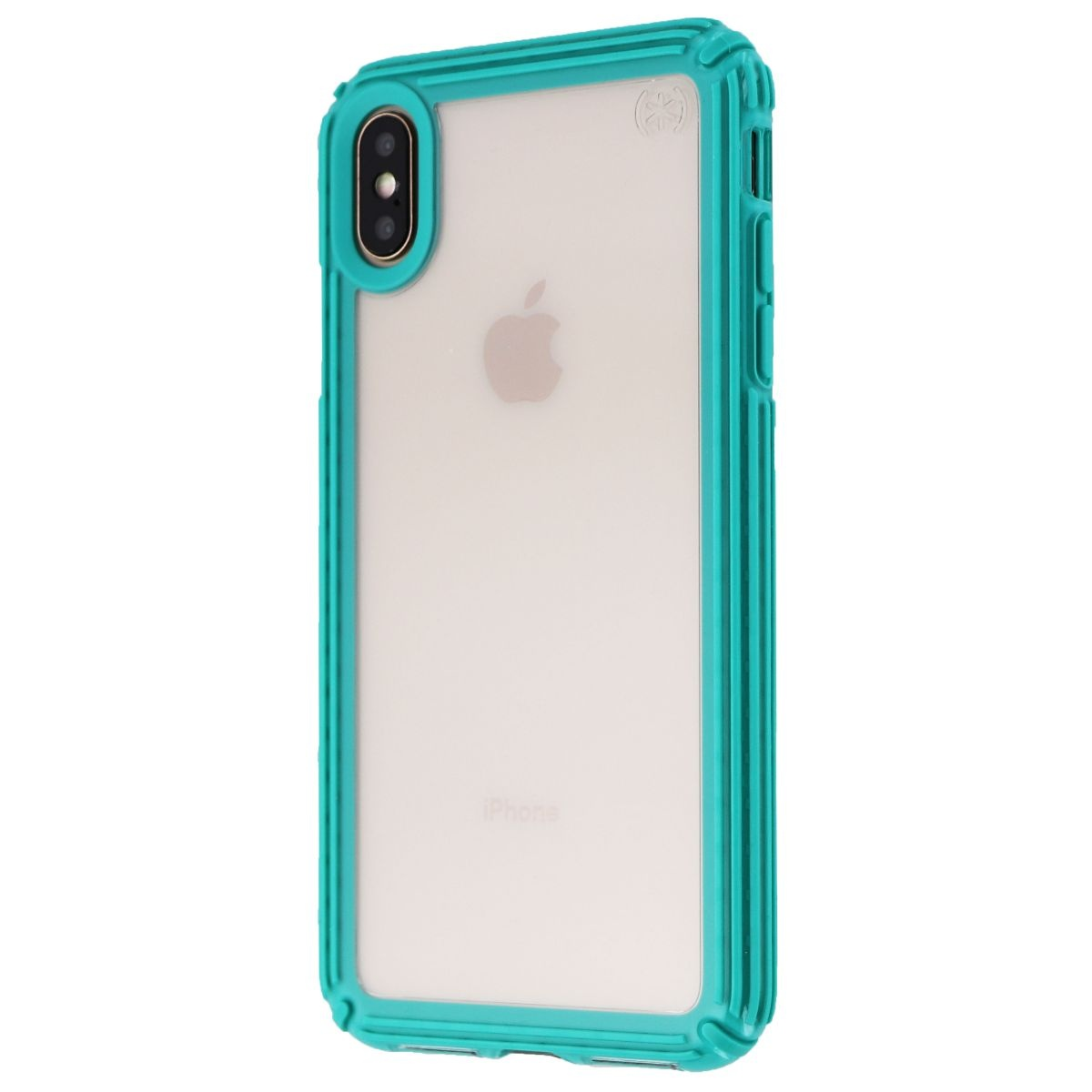 Speck Presidio V-GRIP Series Case for Apple iPhone XS Max - Clear/Caribbean Blue