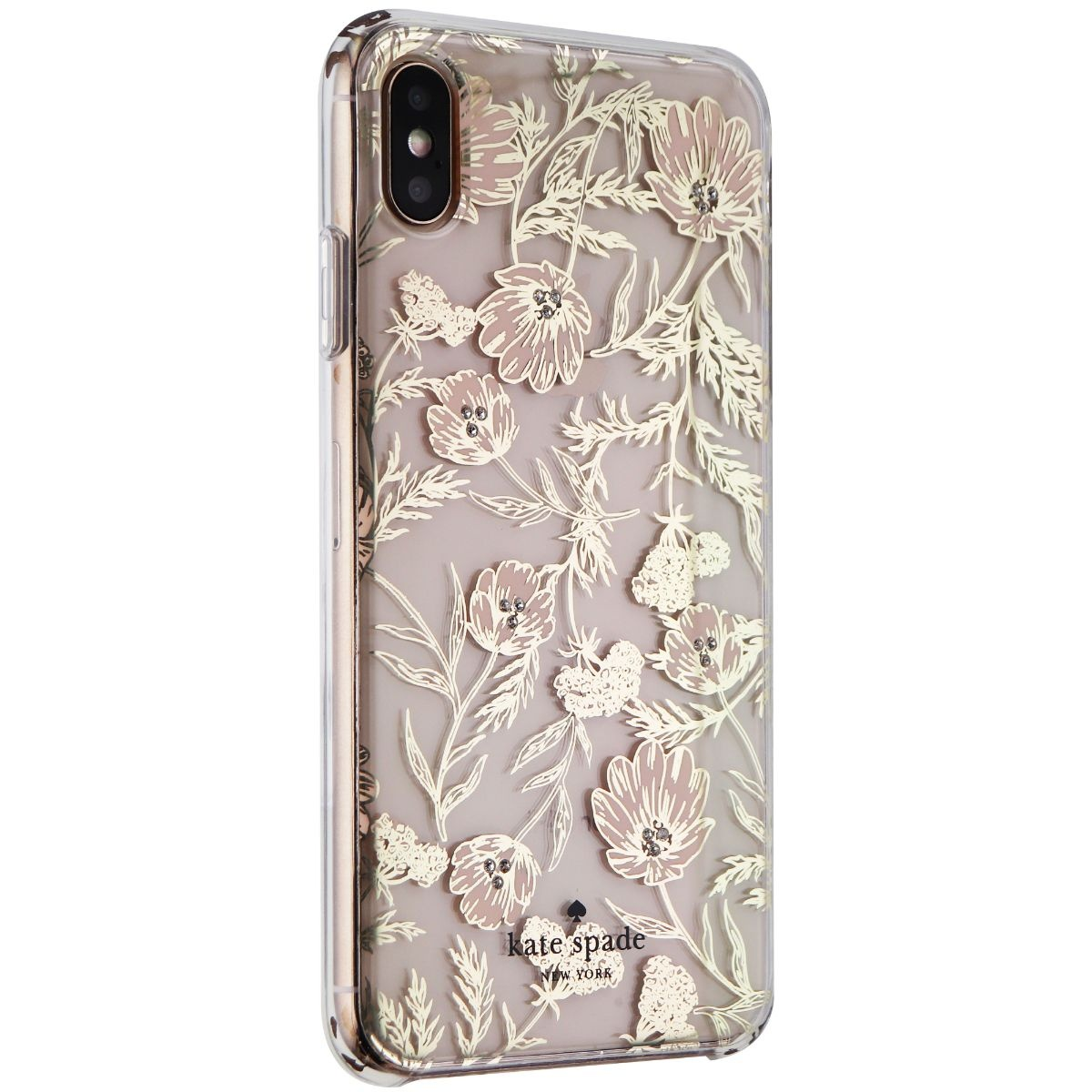 Kate Spade Hardshell Case for Apple iPhone XS Max - Blossom Pink/Gold Foil/Gems