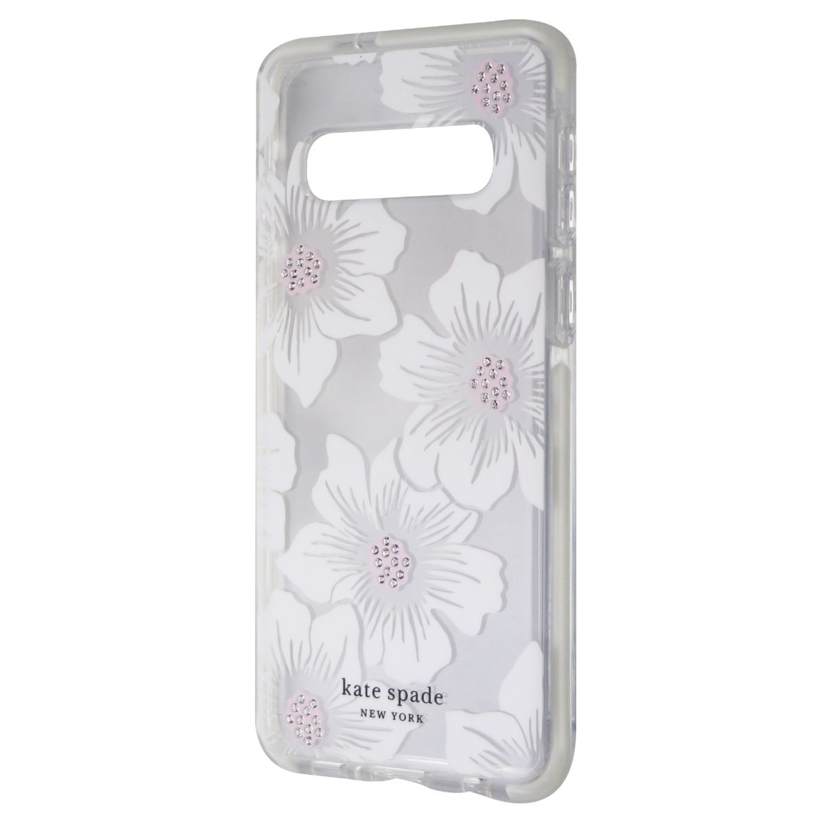 Kate Spade Defensive Hardshell Case for Galaxy S10 - Hollyhock / Clear / Cream