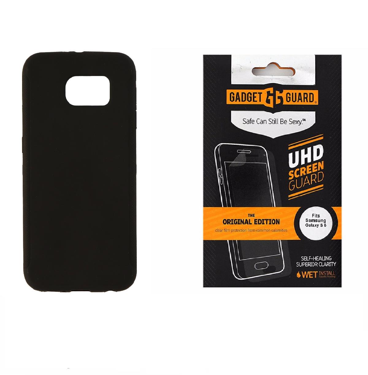 Insignia Black Case + Gadget Guard Screen Protector for Samsung Galaxy S6