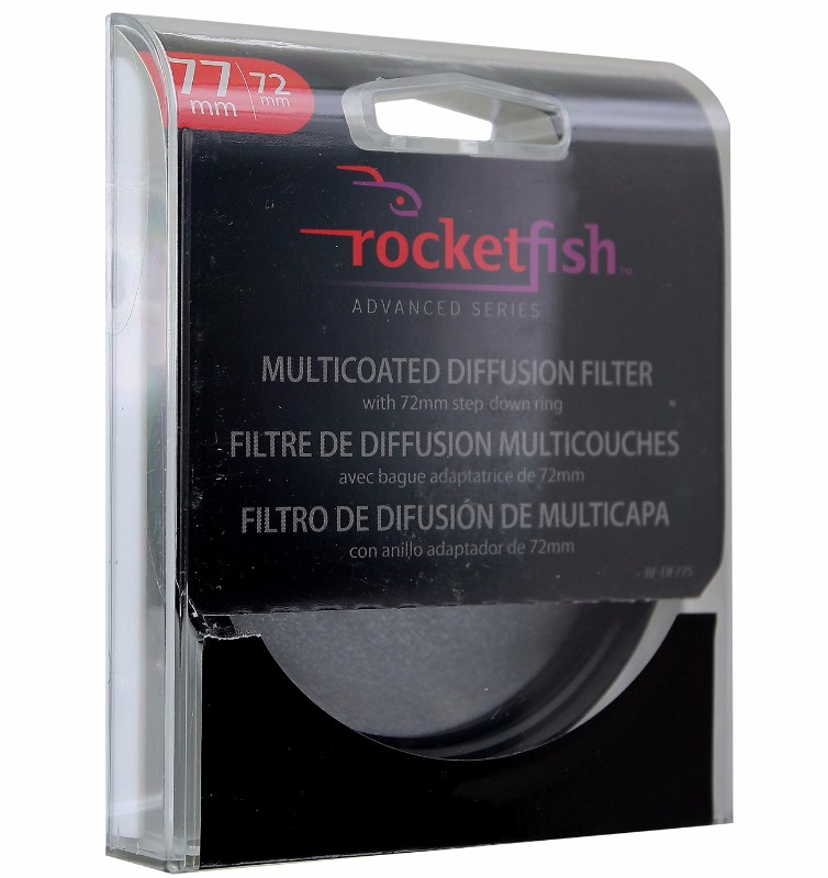 Rocketfish Multicoated Diffusion Filter 72mm step down ring