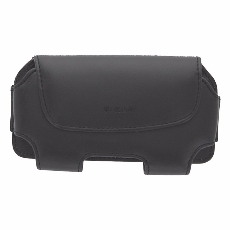 T-Mobile Leather Carrying Case w/ Rotating Clip For Most Smartphones Black