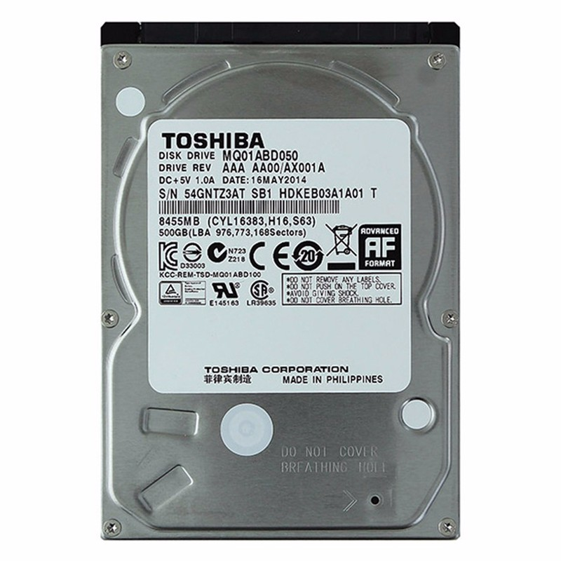 Toshiba 500 GB 2.5 Inch Internal Hard Drive