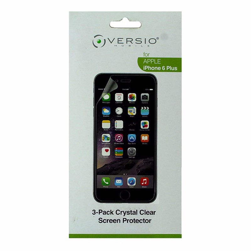 Versio Mobile 3-Pack of Screen Protectors for iPhone 6 Plus Crystal Clear