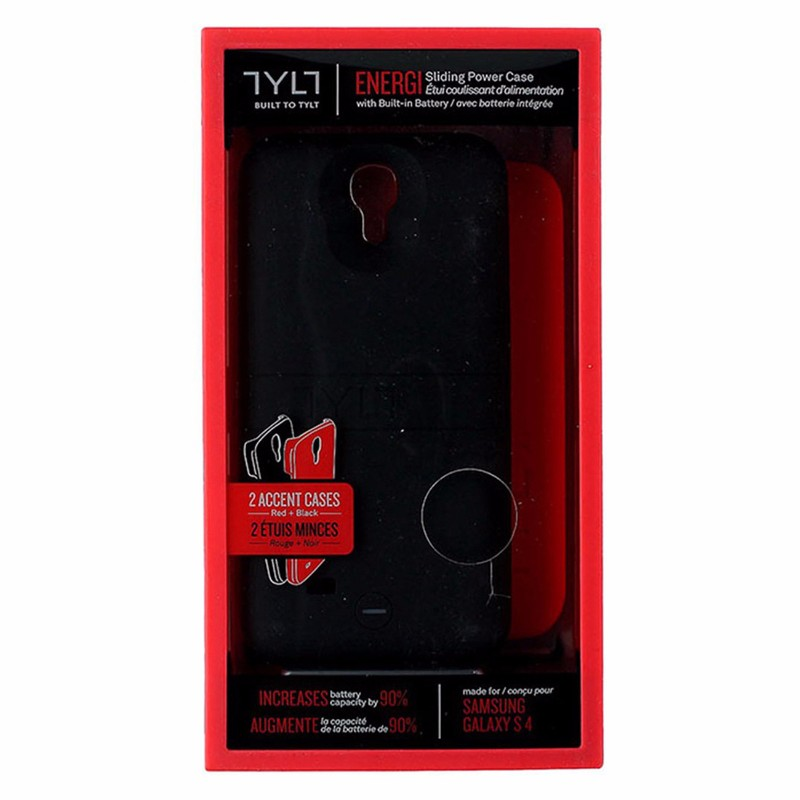 Tylt Energi 2,350mAh Power Case for Samsung Galaxy S4 - Black and Red