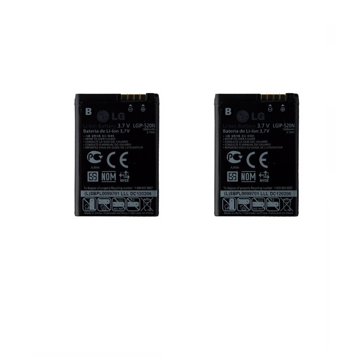 KIT 2x 1000 mAh Replacement Battery (LGIP-520N) for LG Chocolate / GD900 / GW505