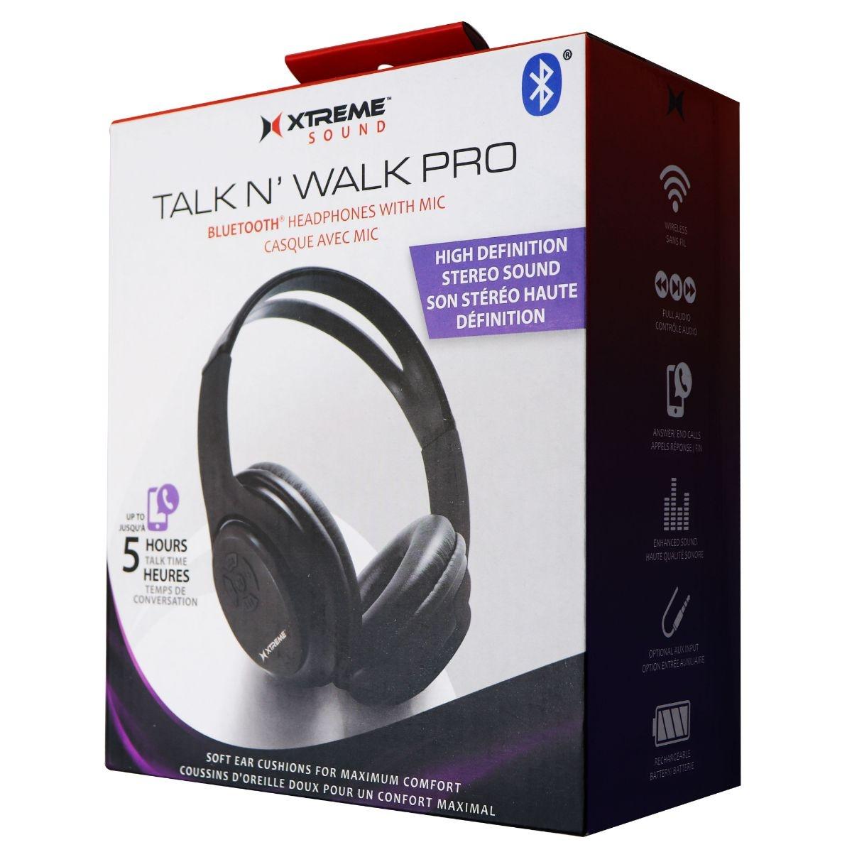 Xtreme Talk and Walk Bluetooth Headphones w/ Mic - Midnight Black XHF9-0100-BLK