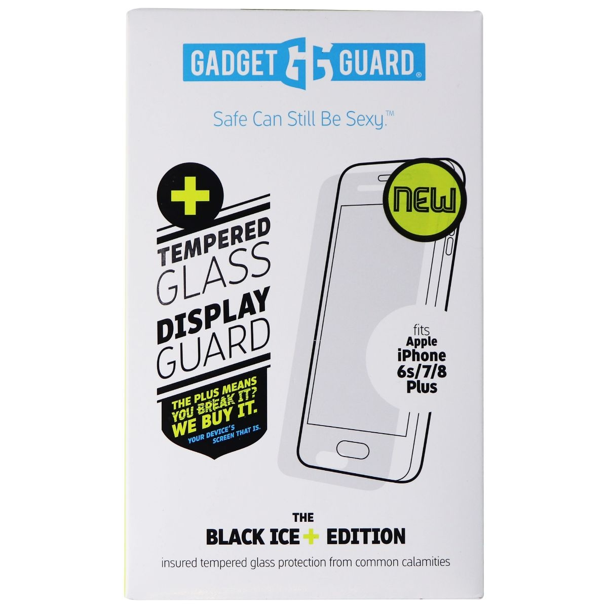 Gadget Guard Black Ice+ Tempered Glass for iPhone 8 Plus/7 Plus (White Pack)