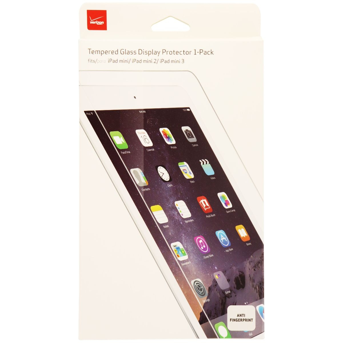 Verizon Tempered Glass Display Protector 1 Pack for iPad mini 1 / 2 / 3 - Clear