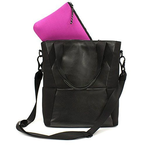 M-Edge International Tech Tote with Battery Pack - Black - TOT-MT-N-B