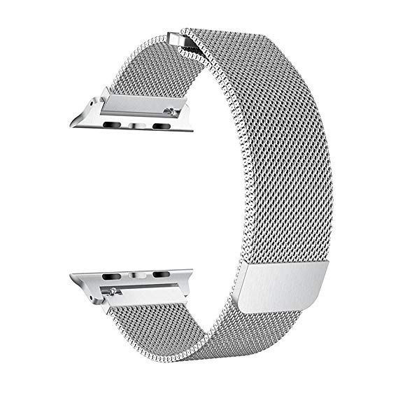 Apple Milanese 38mm Watch Band for Apple Watch Series 3/2/1 - Silver - MJ5E2ZM/A