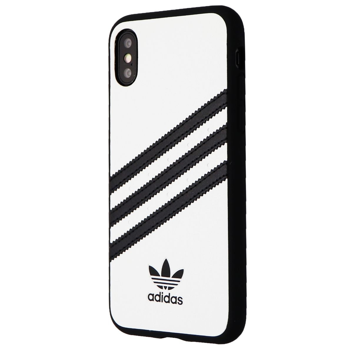 Adidas 3-Stripes Snap Hard Case for Apple iPhone XS and X - White / Black