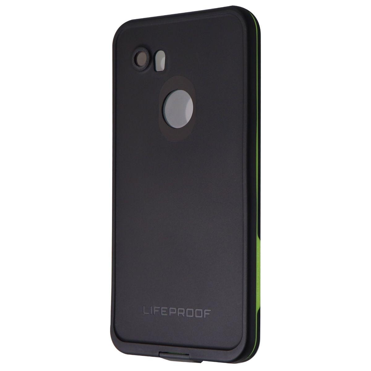 LifeProof FRE Series Waterproof Case for Google Pixel 2 XL - Black / Lime Green