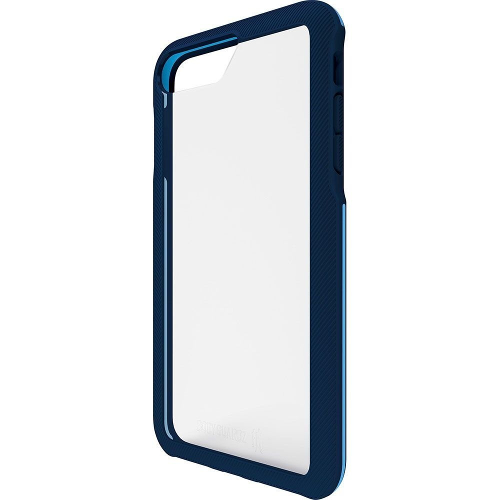 BodyGuardz Trainr Hybrid Case for iPhone 8 Plus 7 Plus 6s Plus - Frost/Navy Blue