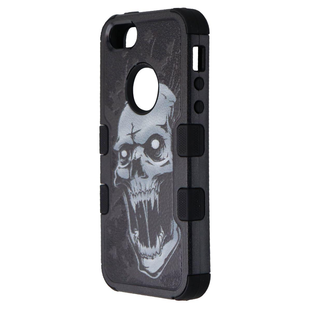 MyBat Tuff Series Hardshell Case for Apple iPhone SE / 5s / 5 - Black / Skull