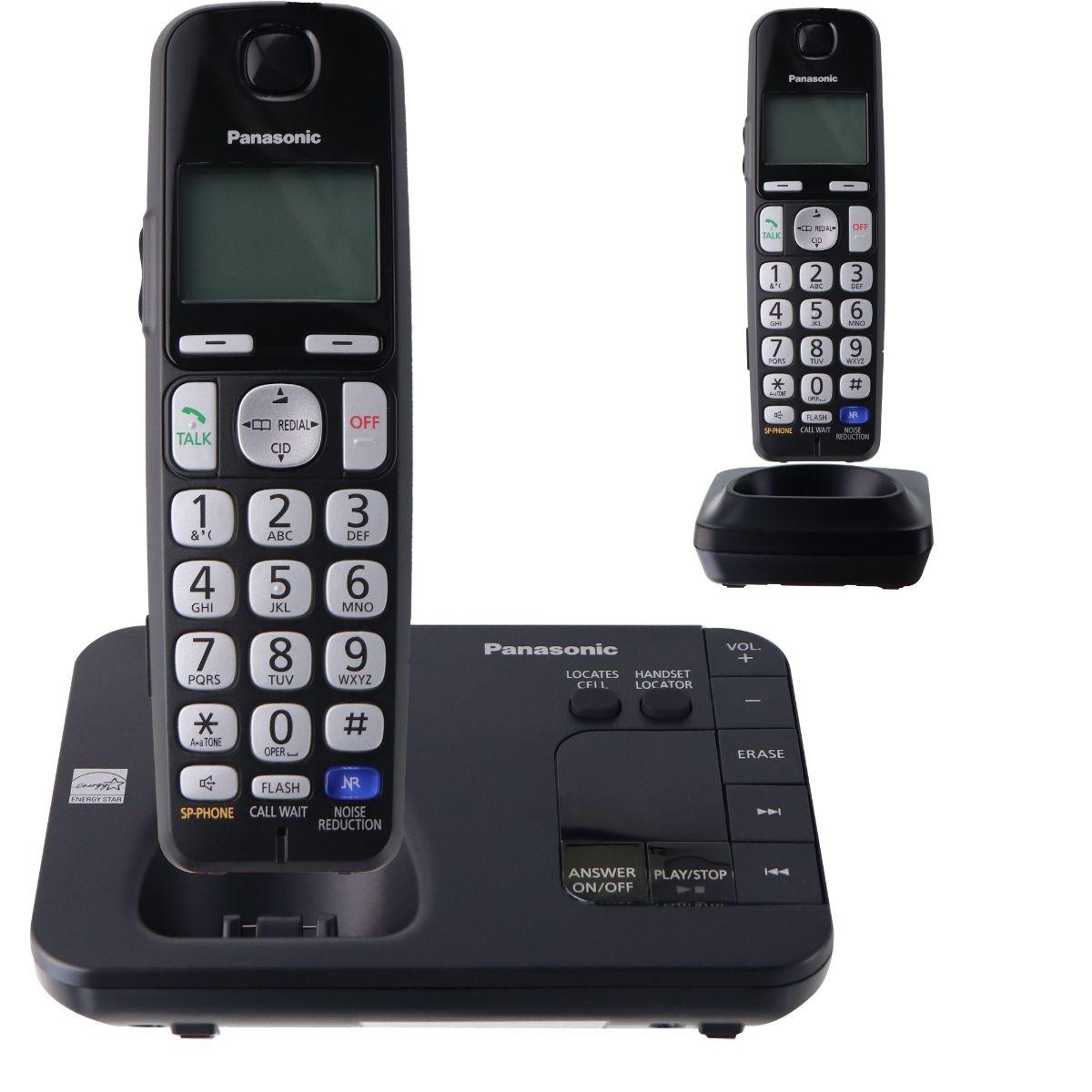 Panasonic KX-TGL432B Dect 6.0 2-Handset Landline Telephone - Black
