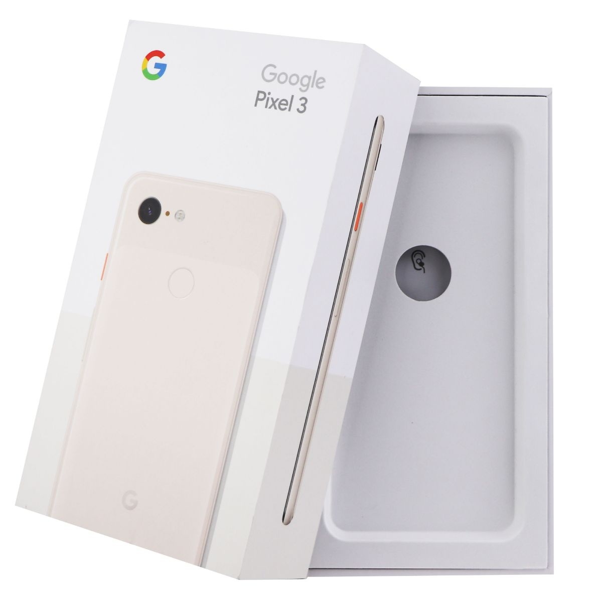 RETAIL BOX - Google Pixel 3 - Not Pink - Tray Included - NO DEVICE