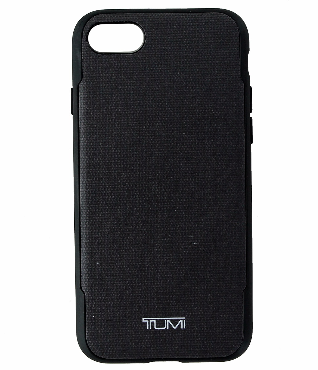 Tumi Coated Canvas Co-Mold Protective Case Cover for iPhone 7/8 - Gray Black